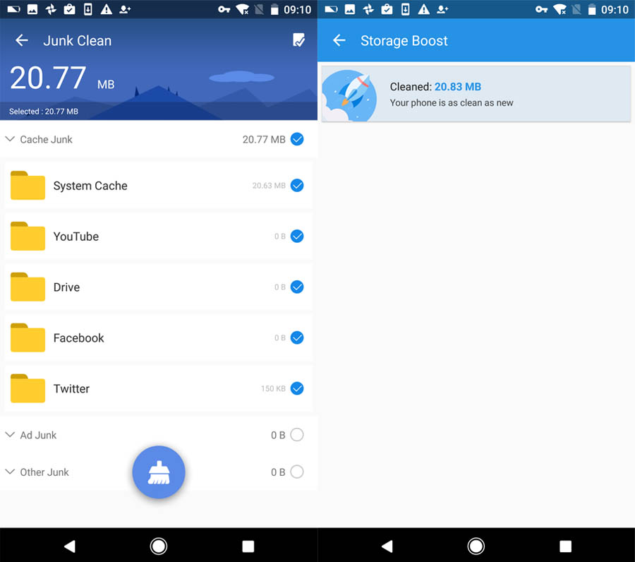 best phone cleaner and booster to speed up android and free up storage